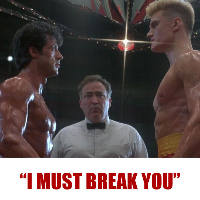 Мужская футболка Ivan Drago I MUST BREAK YOU Rocky Balboa 4 IV HE-MAN Rambo  blu ray Tee T Shirt