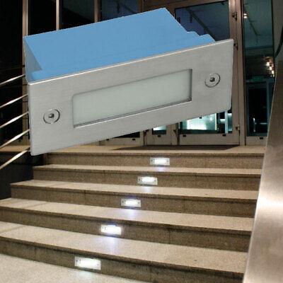 LED Exterior Área Pared Empotrable Luz Patada Niveles Reflector Suelo Escaleras