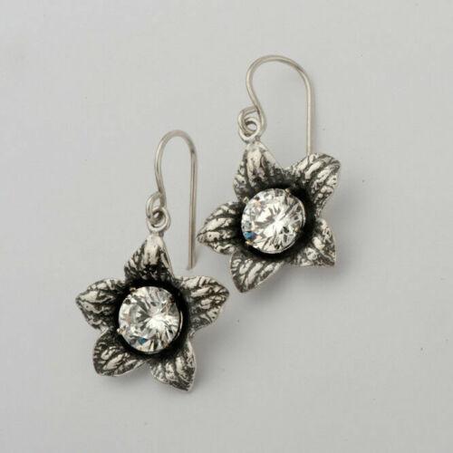 New Elegant Women Sterling Silver SHABLOOL Earrings White CZ White dangle Style