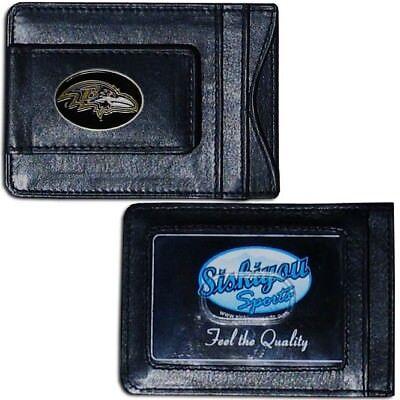 BALTIMORE RAVENS Money Clip NEW Card Holder Quality Leather NFL ID Wallet Men *