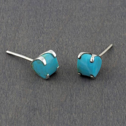 Mexican Sterling Silver and Turquoise Stud Earrings