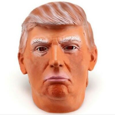 Donald Trump Mask Halloween Realistic Latex Masquerade Carnival Mask Celebrity  (Celebrity Mask)