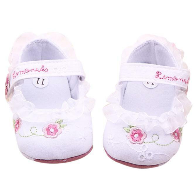 Newborn Infant Girl Baby Soft Sole Anti-slip Crib Walker Sho