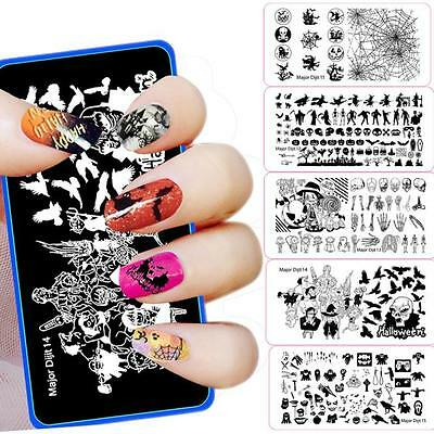 Fashion Halloween DIY Nail Art Image Stamp Stamping Plates Manicure Template new](Diy Halloween Manicures)