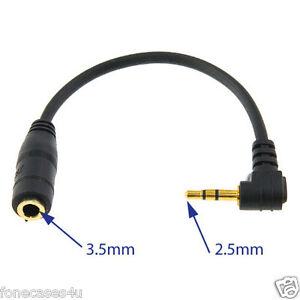 UK 3.5mm Female Socket to 2.5mm Mini Jack Headphone Earphone Converter Adaptor