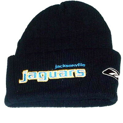 Black Basic Knit Beanie - JACKSONVILLE JAGUARS KNIT BEANIE HAT SKI CAP CUFFED NFL ADULT BASIC BLACK NWT