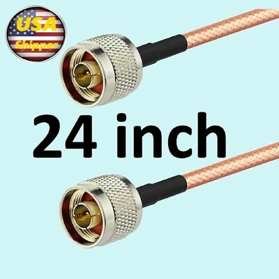 24inch N Male To N Male Plug Straight Crimp Rg142 Jumper Pigtail Cable Versafit