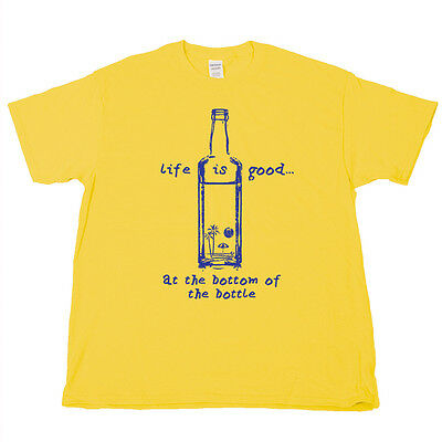 LIFE IS GOOD Kenny Chesney Jose Cuervo Gold Beer Pong Wine Liquor T Shirt  Tee