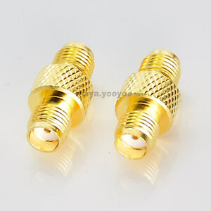 2-SMA-Female-To-Female-Straight-RF-connector-Adapter