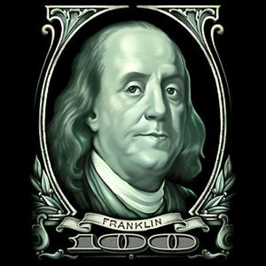 Funny T Shirt Big Cash Money Gangster Benjamin Franklin