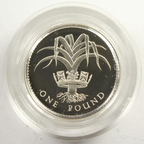 1985 SILVER GREAT BRITAIN 1 POUND PIEDFORT PROOF ORIGINAL BOX & COA