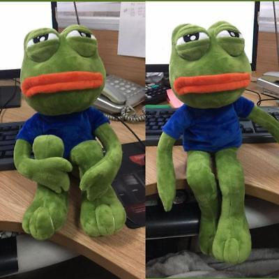 18''Pepe The Frog Sad Frog Plush 4chan Kekistan Meme Toy Stuffed funny Gift 1PC