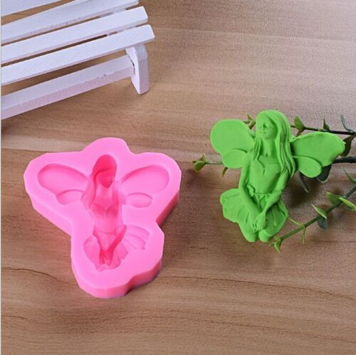 DIY Silicone Mould 3D Wing Girl Fondant Mold Cake Baking Decor Tool LH