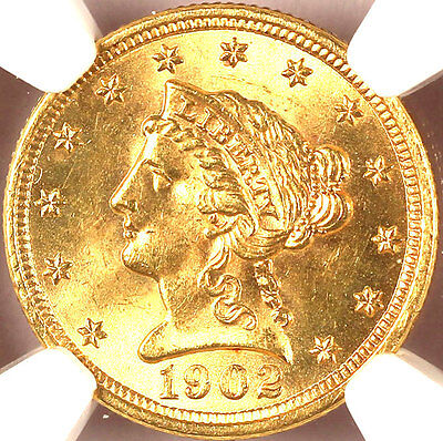 Click now to see the BUY IT NOW Price! 1902 $2.50 MS64 NGC LIBERTY HEAD MINTAGE 91,100
