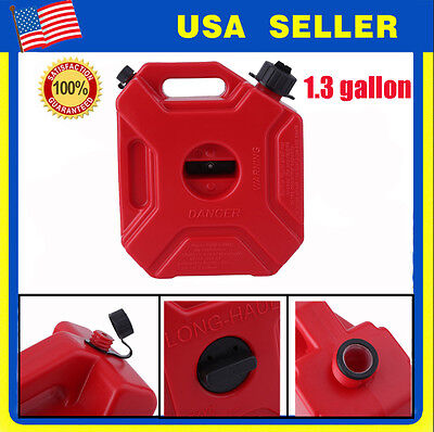 1.3 Gallon 5l Gas Container Oil Pack Fuel Can W Lock Jeepatvutv
