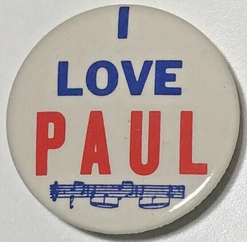 I Love Paul pinback button THE BEATLES Paul McCartney pin
