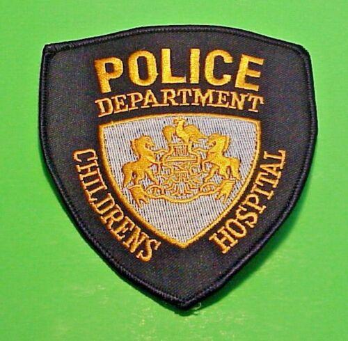 "CHILDRENS HOSPITAL  PENNSYLVANIA ( BLACK BORDER )  4 1/2""  POLICE PATCH"