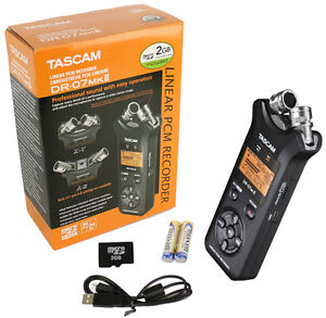TASCAM DR-07mkII Professional Handheld Portable Digital Audio Recorder w/SD Card