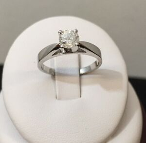 14k gold .55ct.diamond solitaire engagement ring /Lowest Pricing