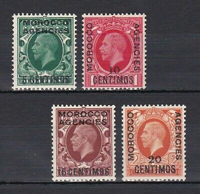 set of 4 mint GV Morocco Agencies stamps. Spanish currency. CV £7.50. 1935