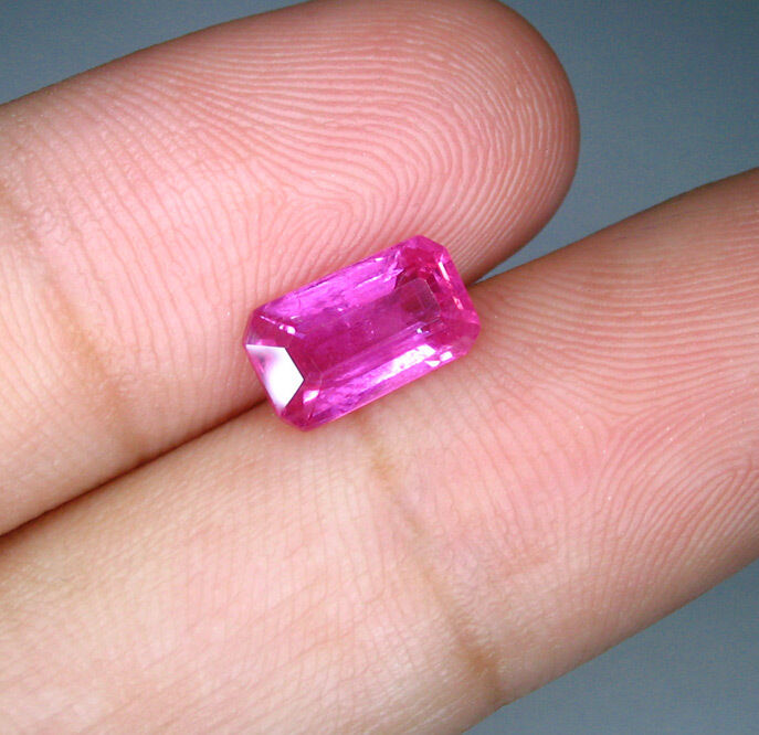 100% Natural Hot Pink Sapphire,  1.56 Ct. (00089) C0065