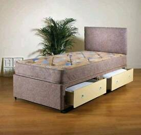 Robin quilted divan single bed (more sizes available)