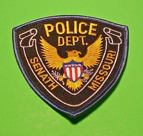 "SENATH  MISSOURI  MO  ( BLUE BORDER )  POLICE PATCH  4 1/8""  FREE SHIPPING!!!"