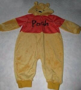 Disney Winnie Pooh Halloween Costume With Hood 18 Months 1PC