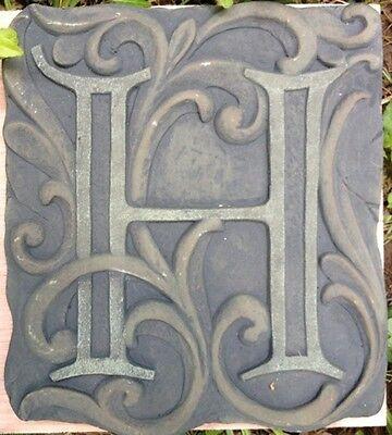 H Stone, plaque, stepping stone,  plastic mold, concrete mold, cement, plaster