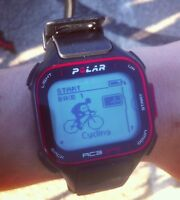 Polar RC3 GPS watch with heart rate transmitter