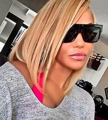 Large ZZ Flat TOP Dark Lenses Thick Arms Designer Celebrity Kimmi LUX (Flat Top Arms)