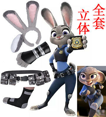 Cosplay Feet (Zootopia Judy Hopps Cosplay Costume Cop Police Uniform Hairy Ears)