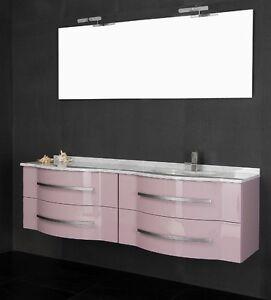Mobile da arredo per bagno con doppio lavabo in 20 colori ...