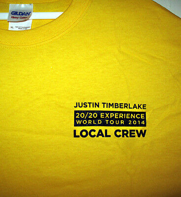 Justin Timberlake 20/20 Experience Local Crew T-Shirt Great Christmas Gift idea