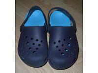 Boy's Light blue & Navy Crocs UK Size 12 NEW