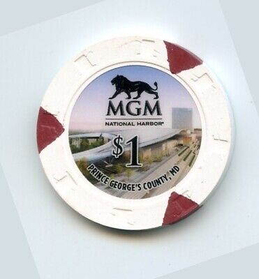 1.00 Chip from the MGM National Harbor Casino in Prince Georges County (The National Harbor In Maryland)