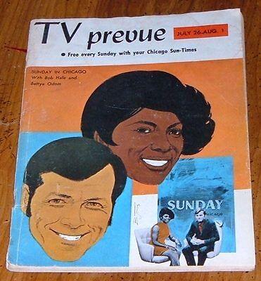 1970 CHICAGO TV PREVUE GUIDE~BOB HALE & BETTYE ODOM SUNDAY IN CHICAGO~VIRNA LISI