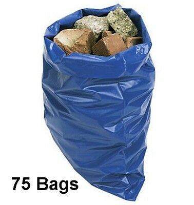 75 Super Strong Rubble Sacks Extra Thick 32L Industrial Garden Waste Builders