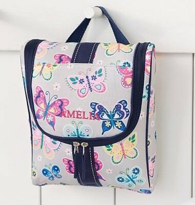 New Pottery Barn Kids Gray Butterfly Toiletry Bag