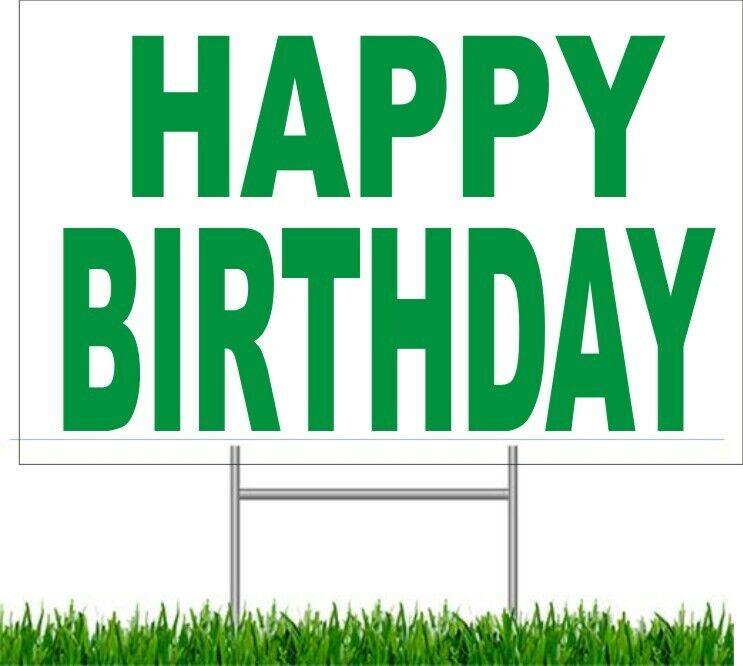happy birthday large outdoor 24 x18 land