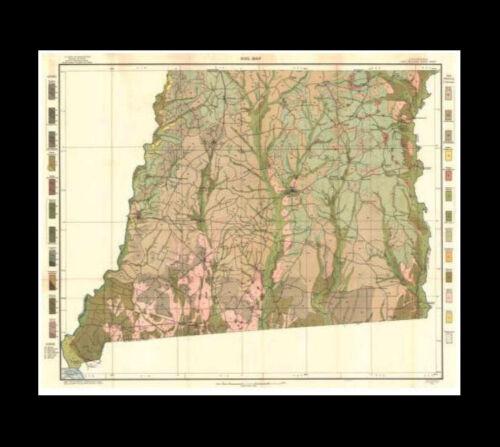 East Feliciana Parish, Louisiana 1912 Soil Map 27 x 33 in. VG FREE SHIPPING.