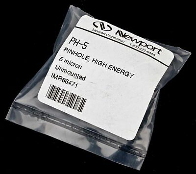 New Newport Ph-5 Unmounted 5-micron High-energy Pinhole Spatial Filter Aperture