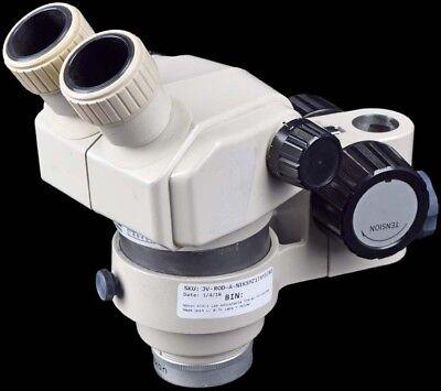 Nikon Smz-1 Lab Adjustable Stereo Microscope Head Unit W 0.7x Lens Holder