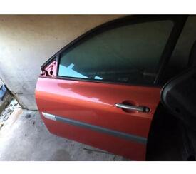 Renault Megane mk2 passenger door and glass teb76 red