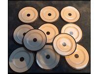 "11 7.5"" Royal Doulton new romance plates"