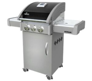 Triumph 325 3-Burner Gas Grill with Side Burner and Cabinet