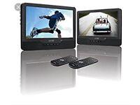 "Logik 9"" Twin Screen Portable In Car Dual Headrest Dvd Player"
