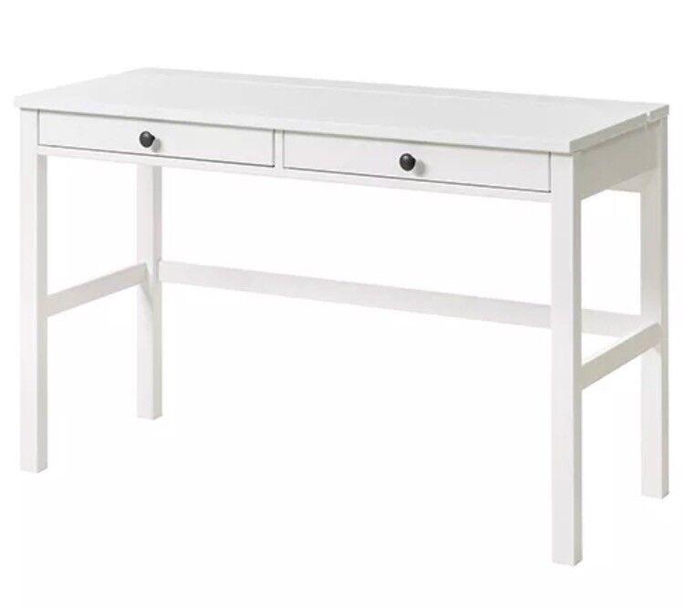 Ikea White Hemnes Two Drawer Desk In Dunblane Stirling Gumtree