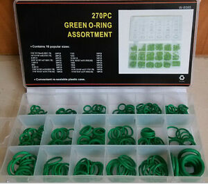 Factory Sales Set 270PC O-ring Kit Green Metric O-ring Seal Seals Nitrile Rubber