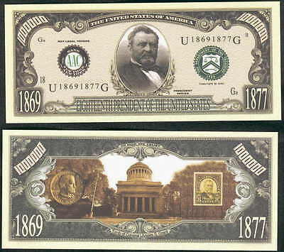 ULYSSES S GRANT 18th PRESIDENT DOLLAR - LOT OF 2 BILLS